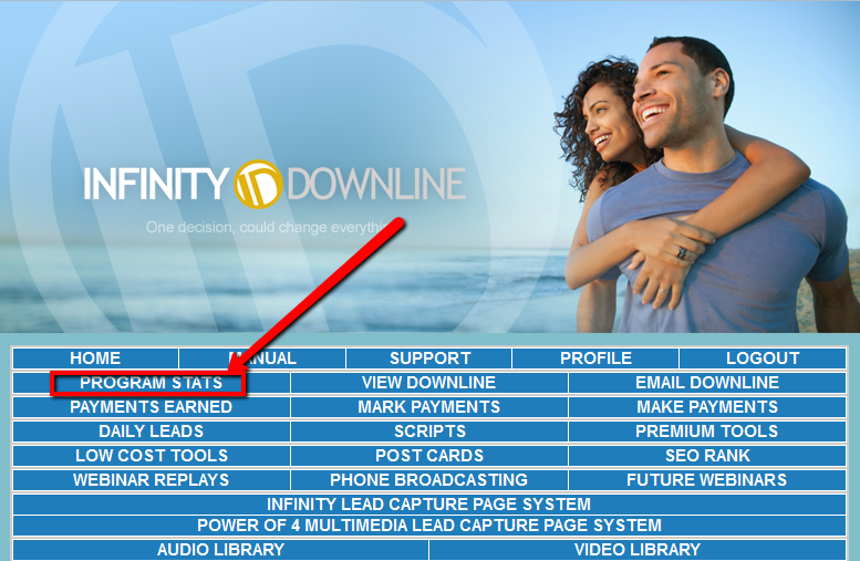 infinity downline admin fee how to pay